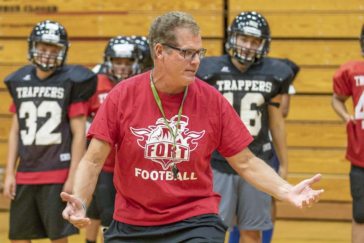 In 2018, former National Football League standout Neil Lomax became the fifth head football coach at Fort Vancouver High School in the past seven years. Next season, the Trappers will leave the Class 3A Greater St. Helens League to play an independent schedule. Photo by Mike Schultz