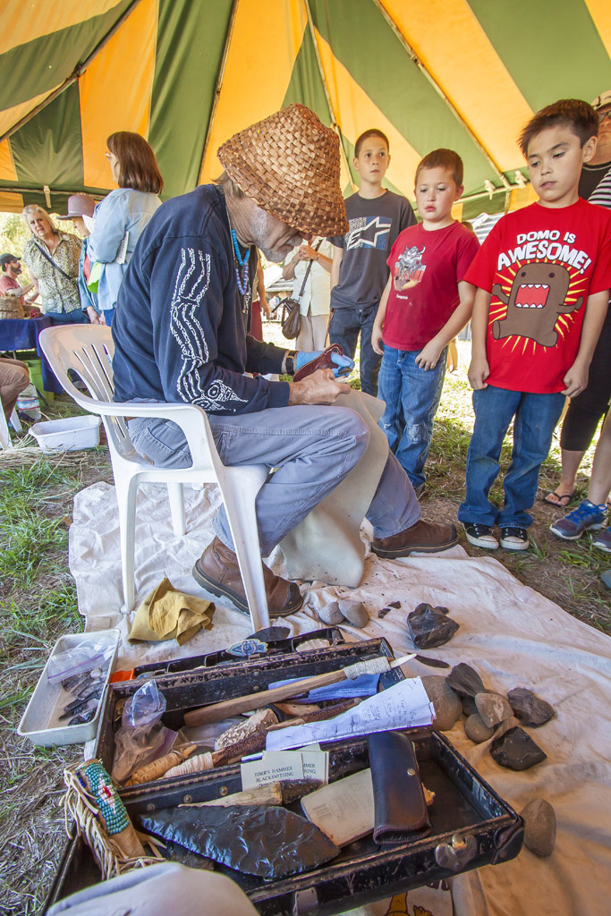 One of the many activities offered during the 2014 Ridgefield BirdFest & Bluegrass event was arrow making. This year's event will feature a variety of activities for families and children. Photo by Mike Schultz