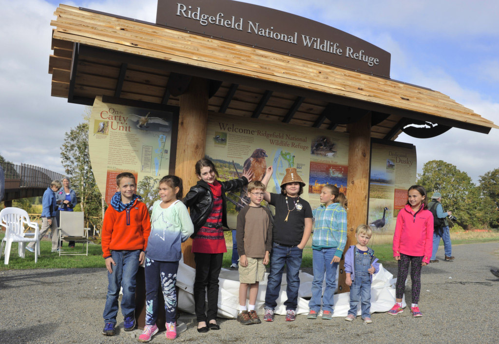 Different nature and wildlife activities will be offered for children and families during the annual Ridgefield BirdFest & Bluegrass Celebration, coming up Sept. 30-Oct. 2. Photo courtesy of Julie Almquist