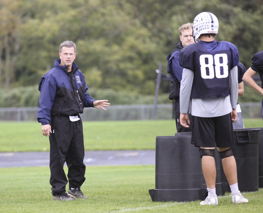 Skyview coach Steve Kizer (left) has taken the Storm to 11 consecutive postseason appearances. Photo by Nick Daschel