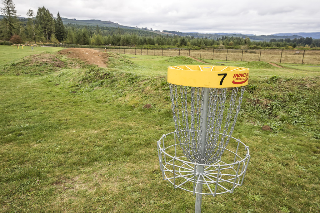 In addition to the many activities offered at the Yacolt Recreational Park, the park also includes an eight-hole disc golf course. Photo by Mike Schultz