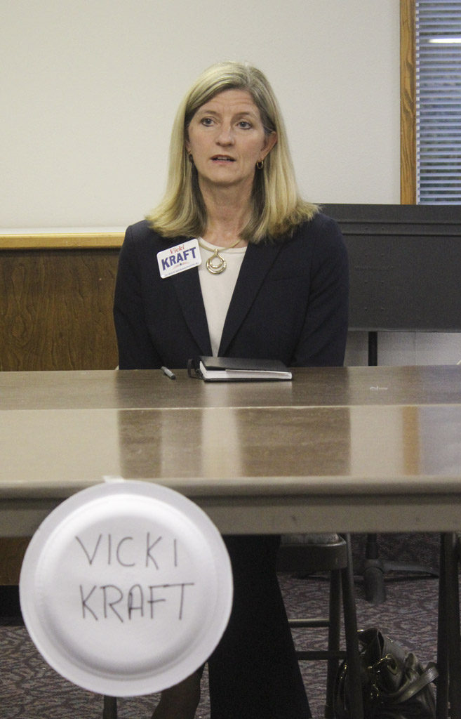 Vicki Kraft is running for state representative position No. 1. Photo by Joanna Yorke