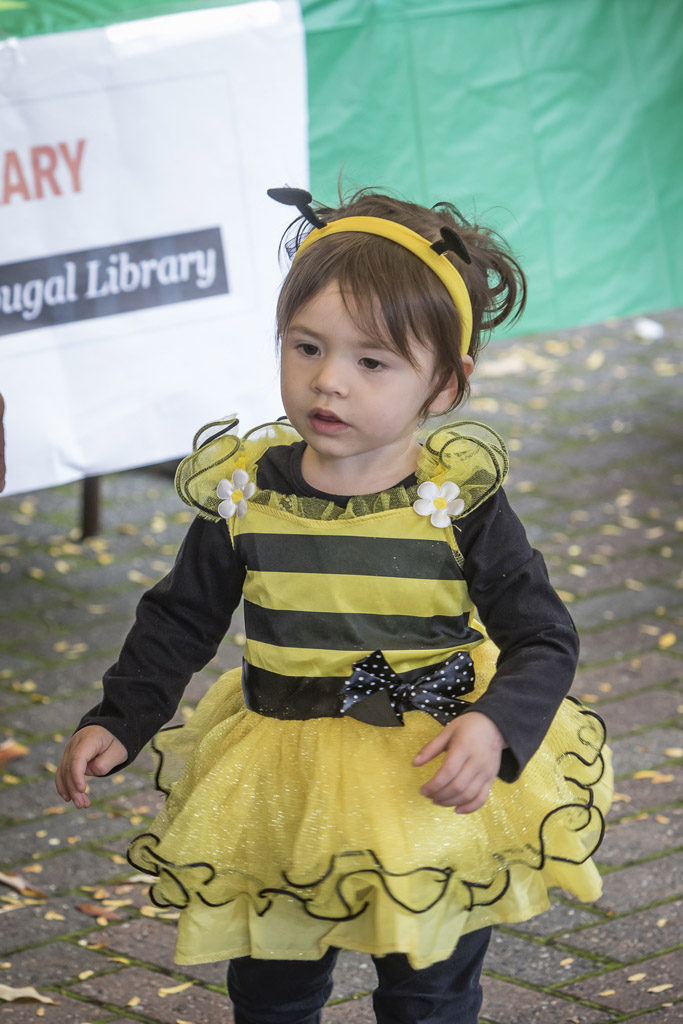 Two-year-old Alexis Ellis, of Washougal, attended the annual Downtown Washougal Pumpkin Harvest Festival dressed in her bumble bee costume. Photo by Mike Schultz