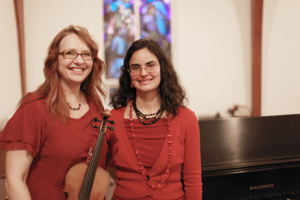 This year's Autumn Benefit Concert for the Camas United Methodist Church's children's ministry programs, happening at 3 p.m., Sat., Oct. 22, at the Camas United Methodist Church, 706 N.E. 14th Ave., in Camas, features the Grazioso Duo, pictured here, a musical group comprised of world-class musicians Tatiana Kolchanova (left)) and Nilda Curtis (right). Photo by Kelly Moyer