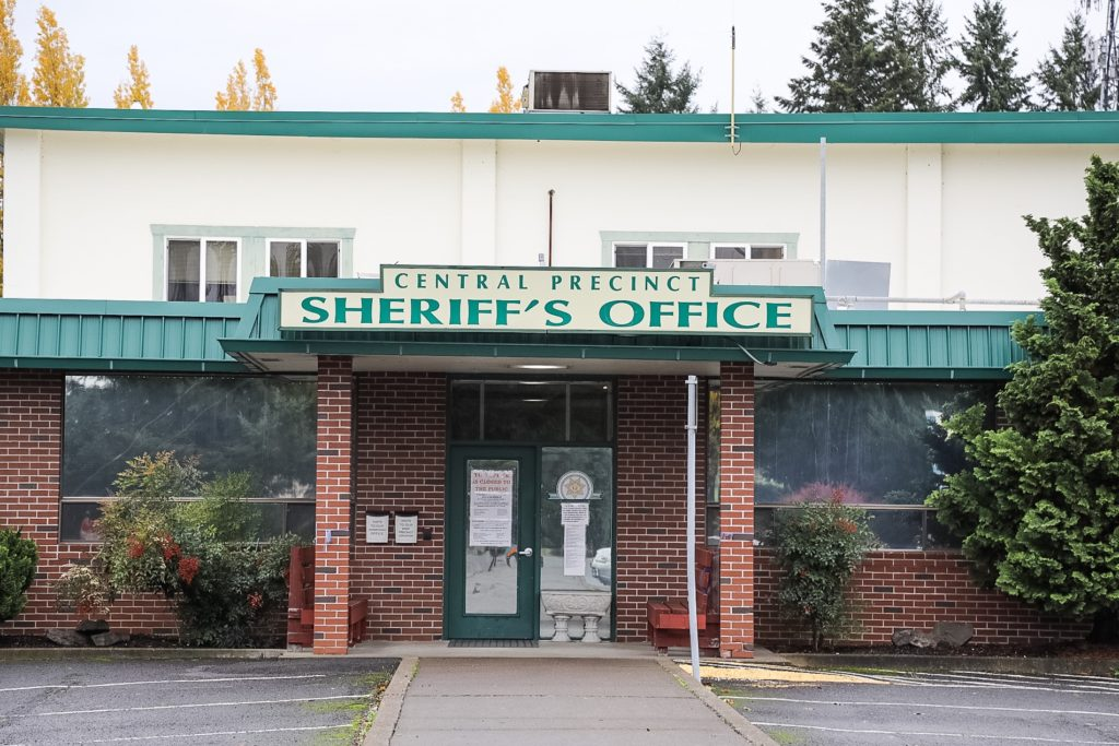 In the face of $1.87 million in proposed cuts to his agency, Sheriff Chuck Atkins is considering closing the Clark County Sheriff's Office Central Precinct location. The county-owned building, which serves about 40 deputies and civilian employees, is functionally obsolete. Photo by Mike Schultz