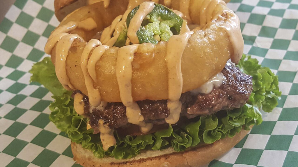 The Jalapeno is just one of several different specialty burgers offered by Michael Horn at The Coachmen food truck in Battle Ground. Photo from The Coachmen Facebook page