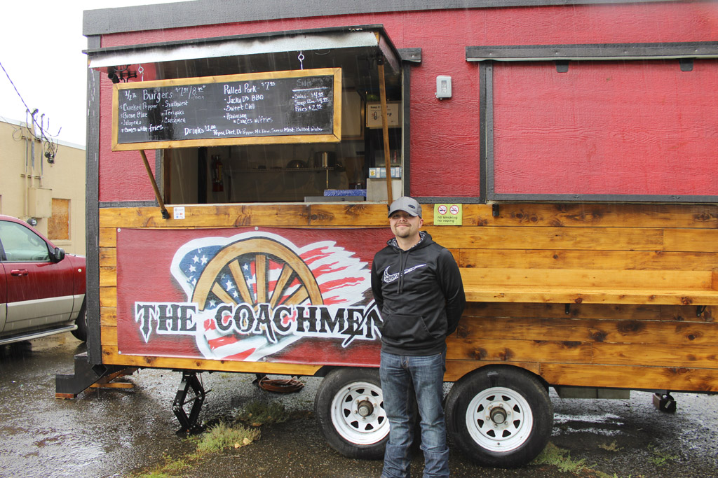 Michael Horn, owner and chef of The Coachmen, recently reopened his business as a food truck. The truck is located at 106 E. Main St., in Battle Ground. Photo by Joanna Yorke