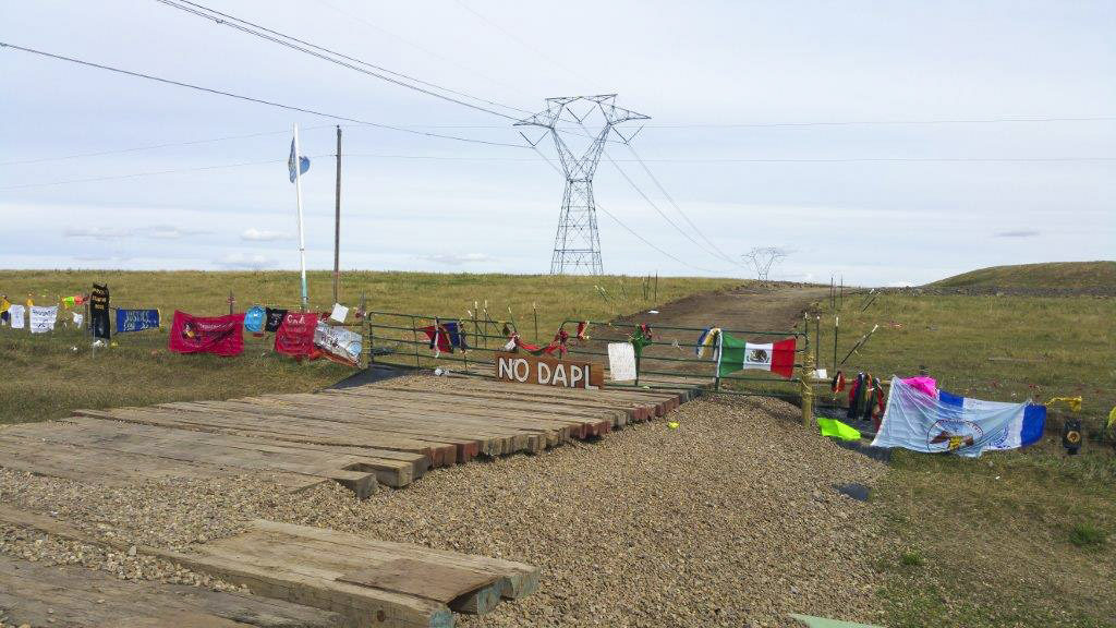 This is the first place staged for resistance at the Dakota Access Pipeline protests in North Dakota, in early September. Melody Pfeifer, a Cowlitz Indian Tribe member, says this area leads straight to the Missouri River, the Standing Rock Sioux Tribe's main drinking water source. Photo courtesy of Melody Pfeifer, Cowlitz Indian Tribe