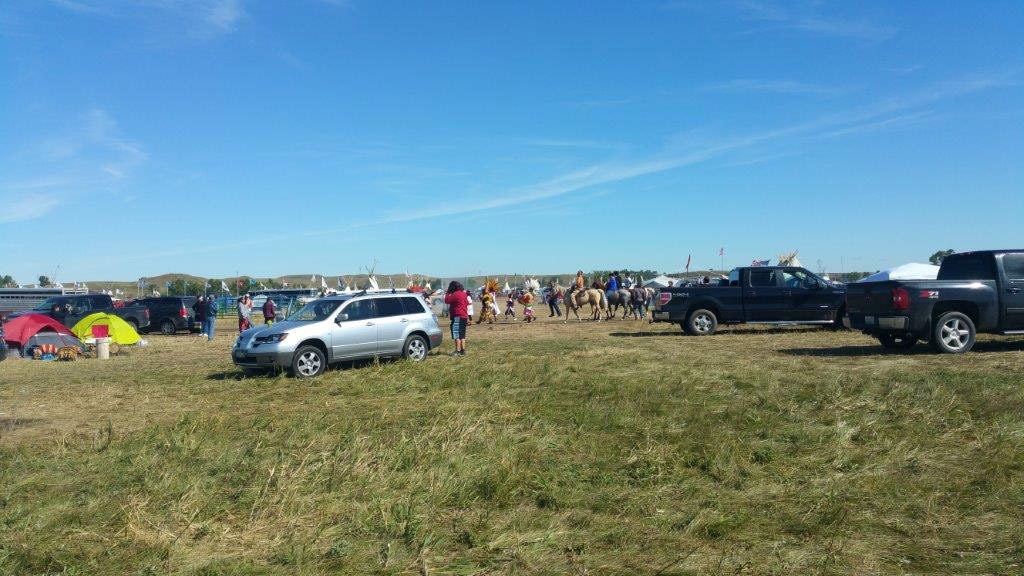 Native Americans protesting the construction of the Dakota Access Pipeline pray at the protest camps they've set up in North Dakota. Photo courtesy of Melody Pfeifer, Cowlitz Indian Tribe