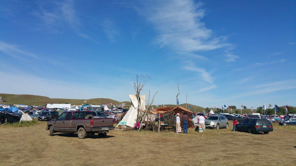 Some protesters at the Dakota Access Pipeline resistance in North Dakota used tree limbs as wind breaks against the wind gusts that came off the North Dakota plains. Photo courtesy of Melody Pfeifer, Cowlitz Indian Tribe