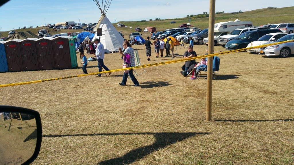 Protests at the Dakota Access Pipeline in North Dakota have drawn families from tribes all over the U.S., Canada and Latin America. This teepee has an indoor school for the children who have gathered at the protest site with their families. Photo courtesy of Melody Pfeifer, Cowlitz Indian Tribe