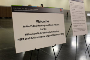 Public hearing on the National Environmental Protection Act Draft Environmental Impact Statement for a proposed Lonview coal terminal
