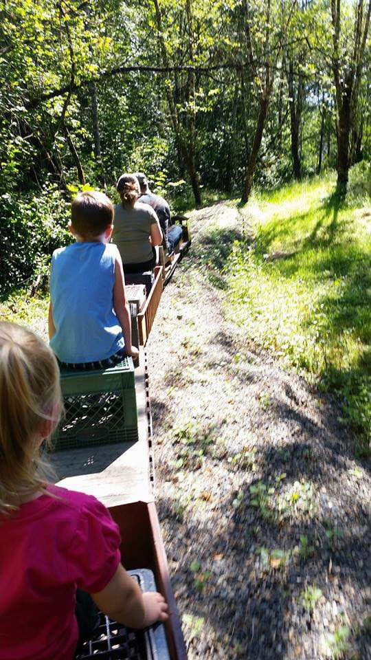 Adults and children alike can enjoy a ride on the Norvell Railway, a miniature railway in Battle Ground. Photo courtesy of James Norvell and Kat Perri