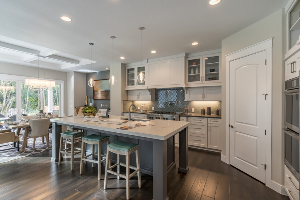 "Cascade West Development's ""The Aerius'' was honored with a Homestreet Bank Parade of Homes Building Excellence Industry Award for ""Best Kitchen.'' Photo by Mike Schultz"