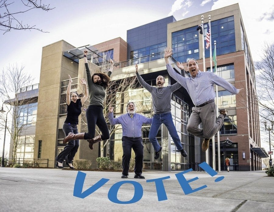 Online voting for Final Four round of national city hall tourney, which features Vancouver City Hall vs. the city hall in Little Chute, Wisconsin, is open until 8:59 p.m. PST, Fri., March 3. Photo courtesy of city of Vancouver