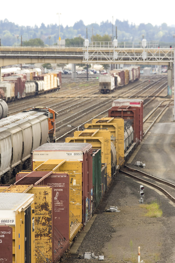If approved, the Millennium Terminal would transport coal from Montana mines to the outskirts of Longview, sending eight loaded unit trains and eight unloaded unit trains, each approximately one-and-one-half miles long, through the city of Vancouver on a daily basis. Photo by Mike Schultz