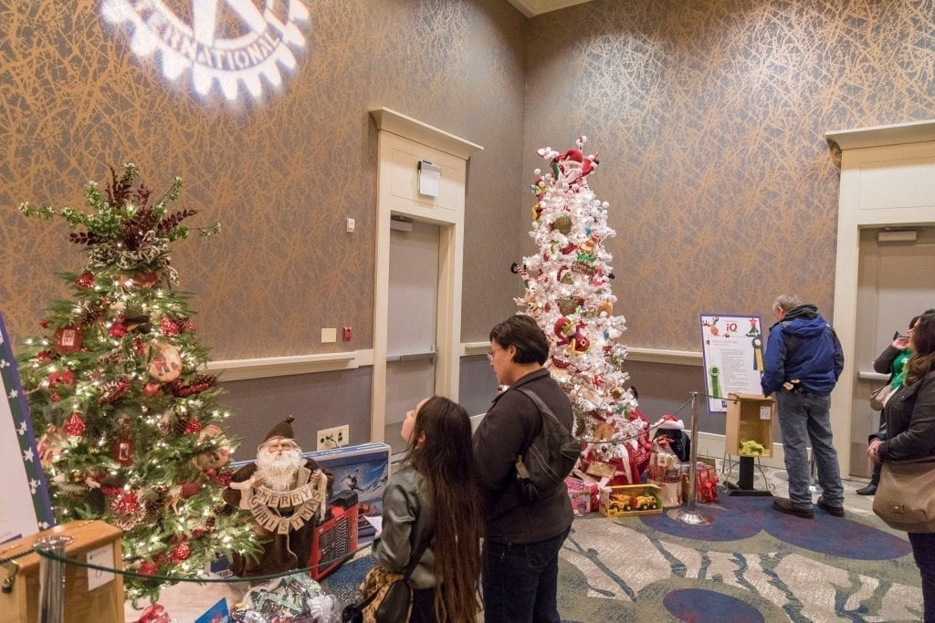 Vistors view Christmas trees on dislay at the Vancouver Hilton during the Vancouver Rotary Foundation Festival of Trees. Photo by Mike Schultz