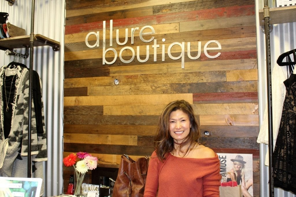 Allure Boutique owner Bobbi Lee said her five-month-old shop in downtown Camas was having a very good day on Fri., Nov. 25, as shoppers flocked to the historic downtown in east Clark County to support locally owned, 'small box' businesses for Black Friday. Photo by Kelly Moyer