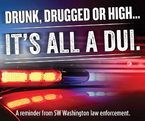 This weekend, the Vancouver and Battle Ground Police Departments will have additional officers enforcing DUI laws in an effort to keep drunk, drugged and high drivers off the road. Photo courtesy of Vancouver Police Department