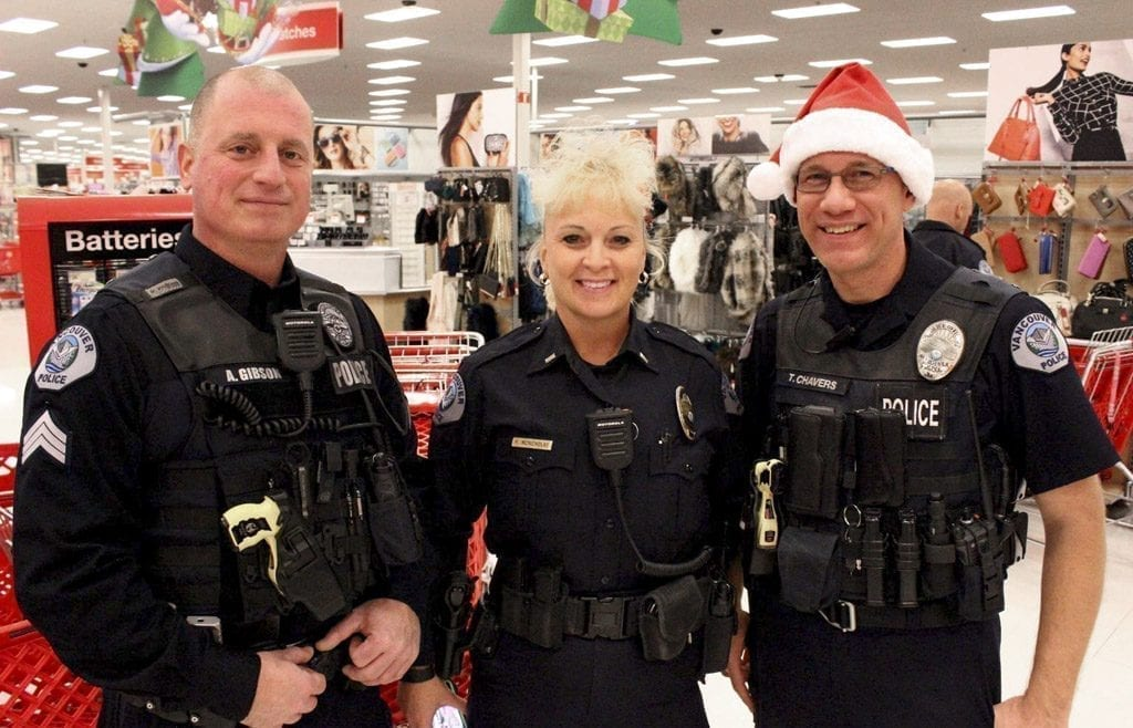 Vancouver Police Shop with a Cop and Nautilus Holiday Helpers Staff