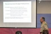 Sheriff talks program cuts at first of three town halls
