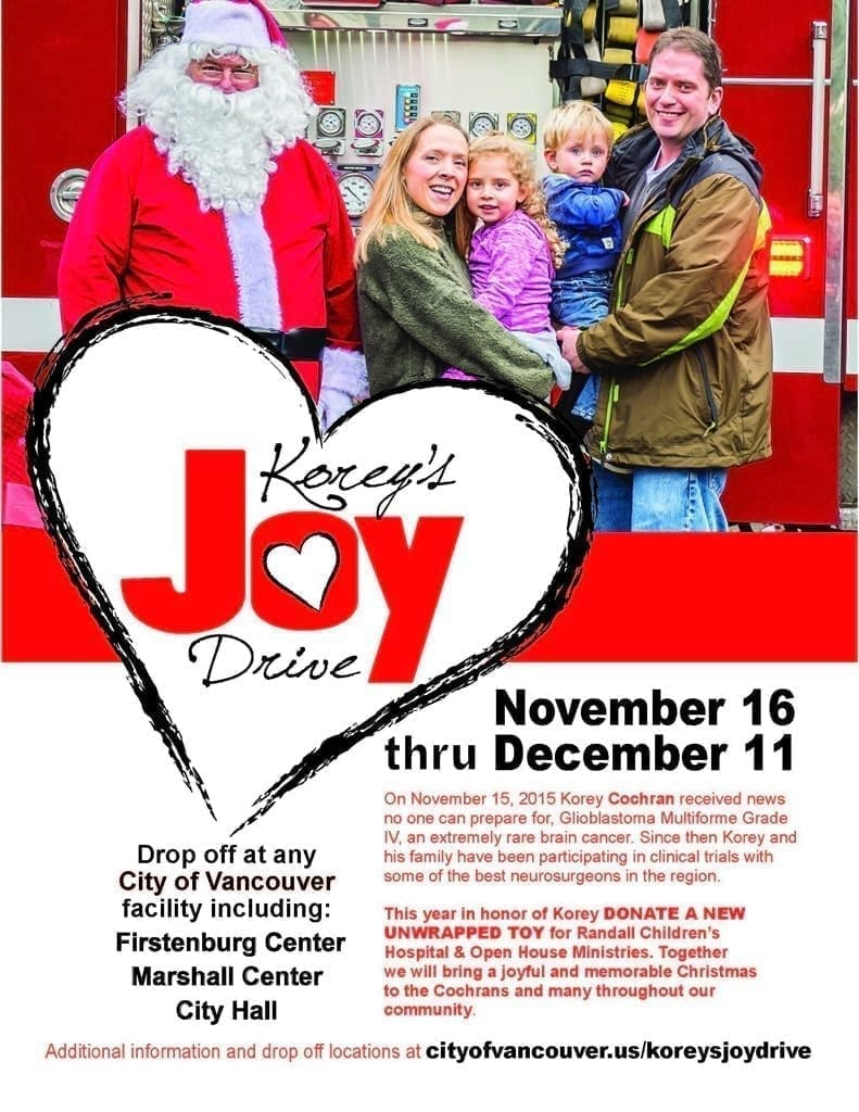 City of Vancouver launches second annual Korey's Joy Drive