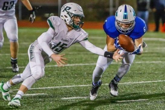 mountain-view-high-school-football-defender-mitchell-delmage-peninsula-high-school-football-quarterback-burke-griffin