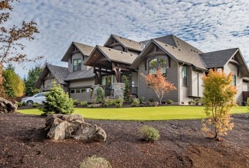 The Timbercrest shows use of natural sontes, cedar siding and more