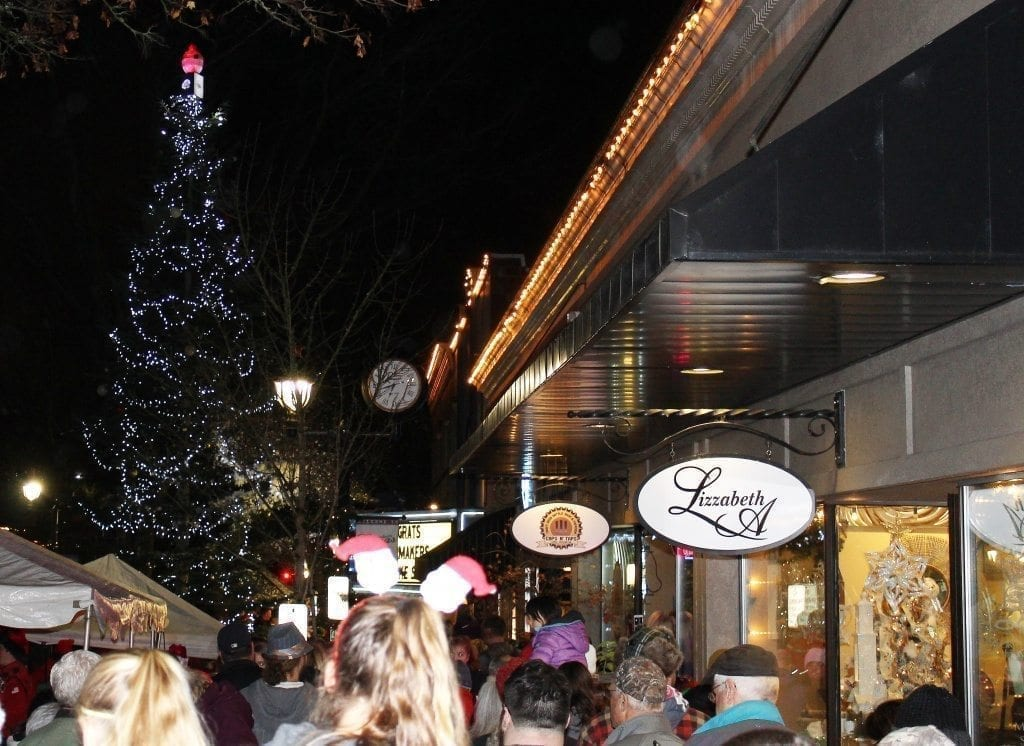 Hundreds gathered in downtown Camas on Fri., Dec. 2, to see the annual tree lighting, watch a short fireworks display and enjoy holiday-themed festivities.
