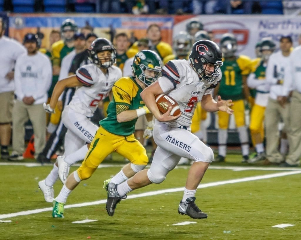 Camas claims state football championship.