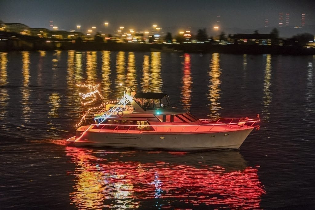 Today, the Christmas Ship Fleet averages about 55 to 60 boats between the Columbia and Willamette River fleets. Photo by Mike Schultz