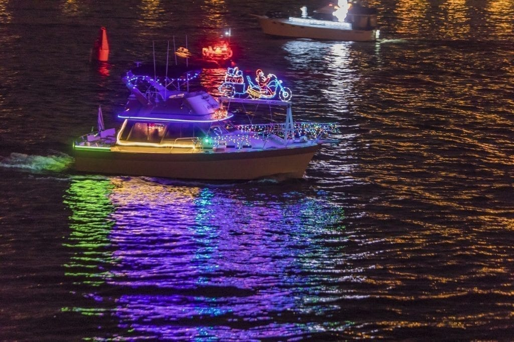 Anyone wishing to get in the holiday spirit can do so by visiting the banks of the Columbia and Willamette rivers to see the annual Christmas Ships Parade, going on now until Dec. 18. Photo by Mike Schultz