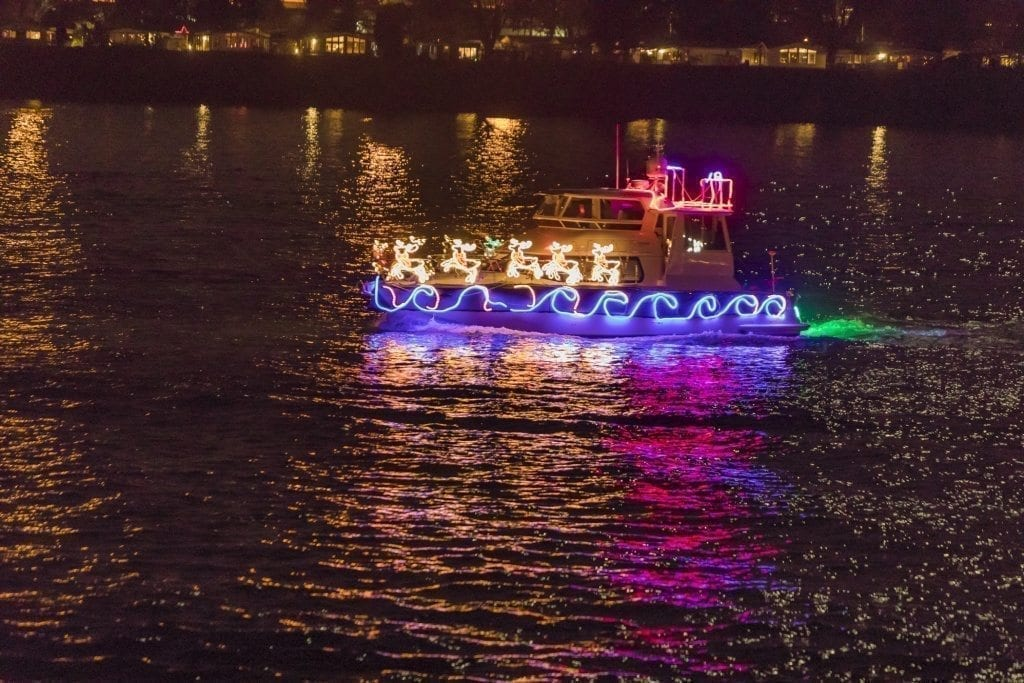 There are seven new ships in this year's annual Christmas Ships Parade. Photo by Mike Schultz