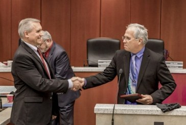 Tom Mielke, David Madore honored on day of last council meeting