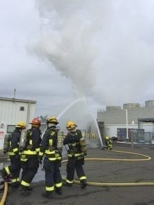 Camas-Washougal Fire Department responds to hydrogen tank fire