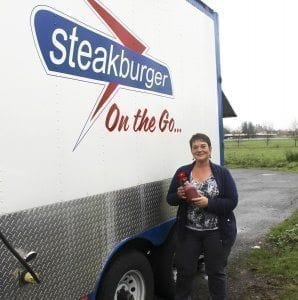 Steakburger on the Go can now be seen around Battle Ground, Ridgefield