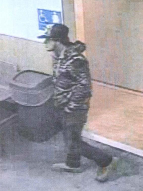 The suspect in question is described as an 18-to-20-year-old white male, average build, scruffy, wearing a camouflage jacket, blue jeans, brown work boots and a Metal Mulisha hat. Photo courtesy of the city of Battle Ground