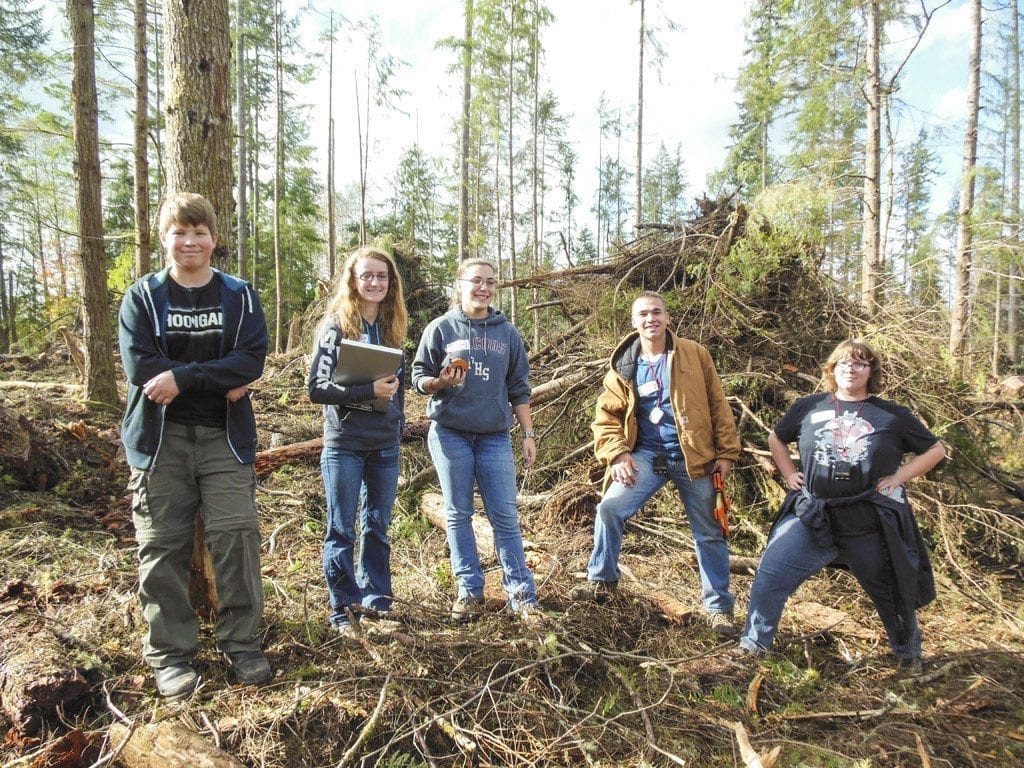 Students from all across Washington competed in the eighth annual event at the Grays Harbor College forest located at the Satsop Business Park