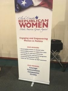 More than 80 people, including Washington State Republican Party Chairman Susan Hutchison, the group's keynote speaker, turned out to watch the installation of new officers for the Clark County Republican Women's group on Thu., Jan. 12. Photo by Andi Schwartz