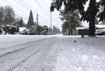 All major Vancouver streets are open, but Public Works crews asking residents to 'avoid travel if at all possible' due to heavy snowfall throughout area