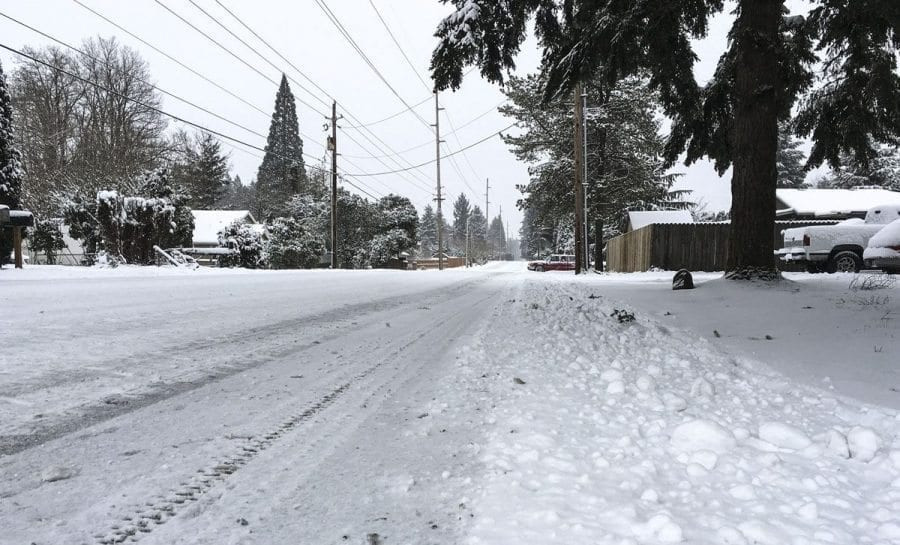 All major streets in Vancouver are open and Vancouver Public Works crews have been plowing snow throughout the night and morning on Wed., Jan. 11, to battle heavy snowfall in Vancouver metro area