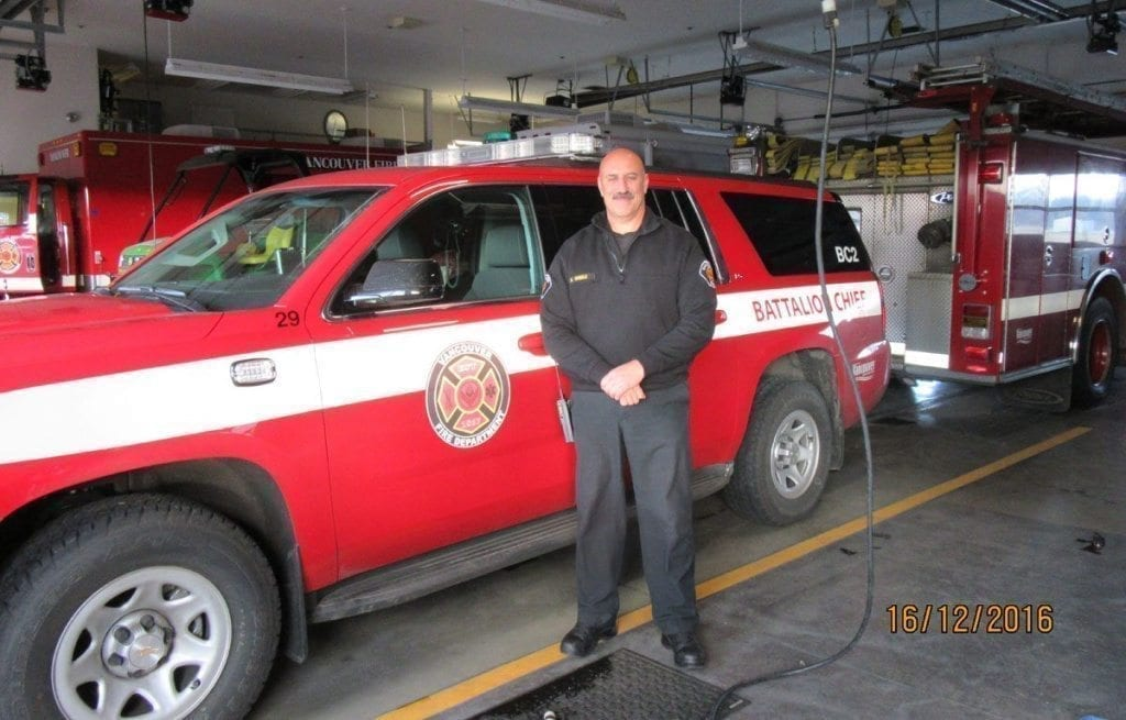 Vancouver Fire Department Battalion Chief Rick Steele started as a firefighter in 1984. In addition to his career as a first responder, Steele has been successful coaching football at Hockinson High School.