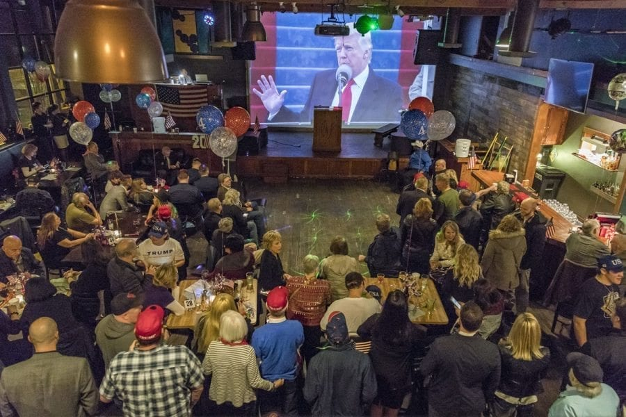 About 200 area residents attend event Friday evening at Six West Lounge, in downtown Vancouver