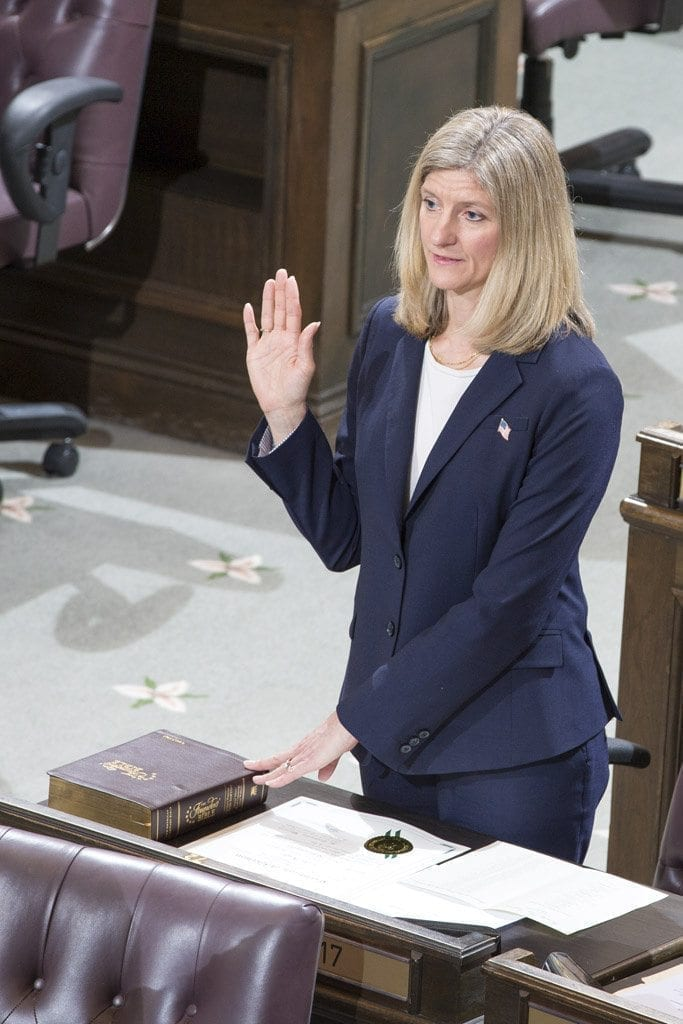 Vicki Kraft sworn in for first term as 17th District representative