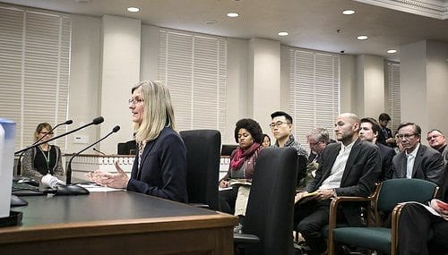 Rep. Vicki Kraft, R-Vancouver, testified before the House Labor and Workplace Standards Committee Tuesday afternoon in support of her bill  for equal pay.