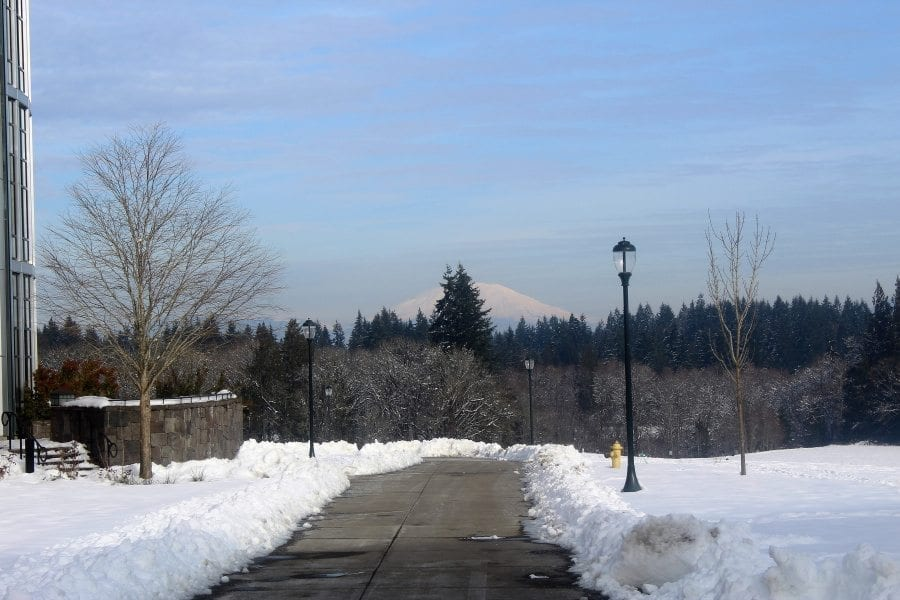 Cities and organizations around the Clark County area have canceled meetings that were scheduled for this evening, and many municipalities are closing city and government offices early or have already closed. Photo by Joanna Yorke