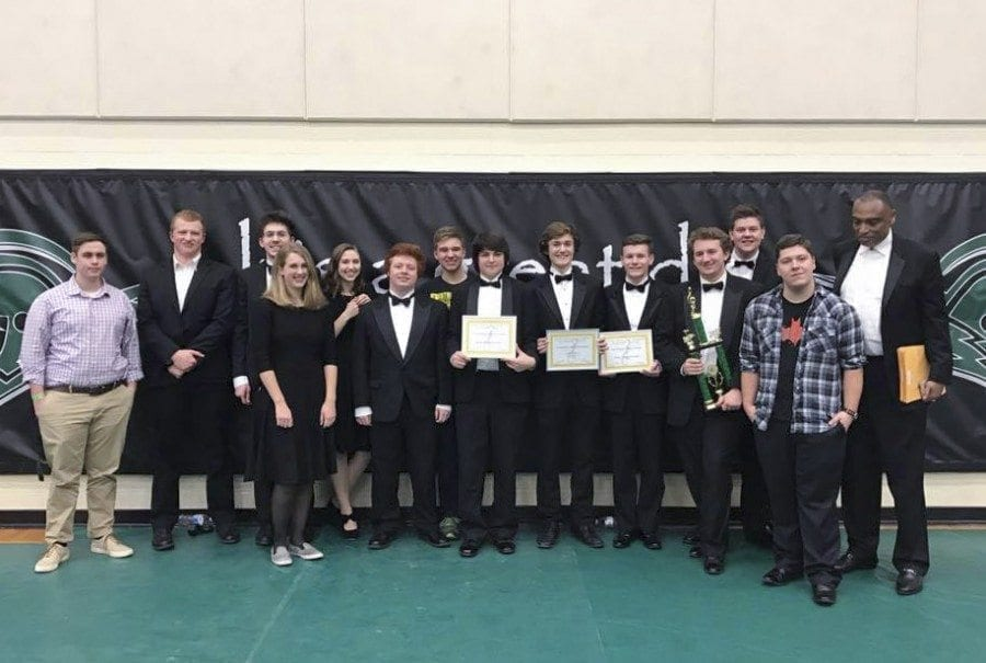The Battle Ground High School Jazz Band (pictured here) earned top honors at the West Salem Jazz Festival over the weekend of Feb. 11-12. Photo courtesy of Battle Ground Public Schools