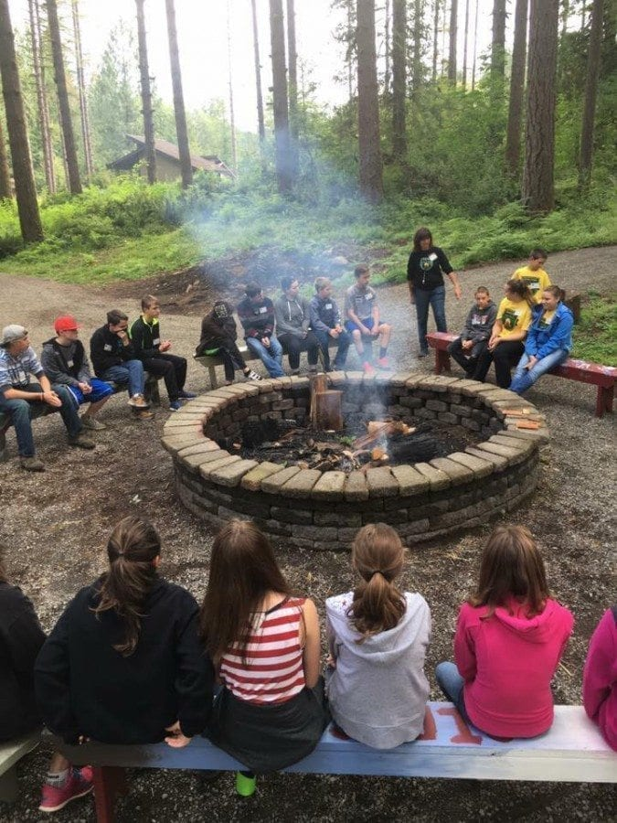 One of the many outdoor features at Camp Hope is a large fire pit that can be used by youth and their families, groups and more for an authentic camp experience. Photo from Camp Hope website