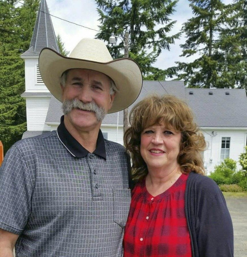 "Jeff and Marilyn Siebert, of La Center, are ""parents"" to Curly the Camel, who is well known to many around the Clark County area. Marilyn passed away this morning, Feb. 21, after battling cancer for the past several months. Photo from the Curly the Camel Facebook page"