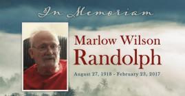 "Marlow ""Randy"" Wilson Randolph August 27, 1918 - February 23, 2017"
